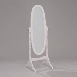 19201 - Floor Mirror - White