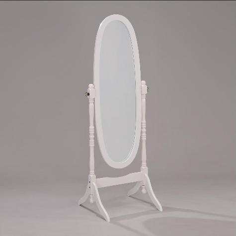 19201 - Floor Mirror - White