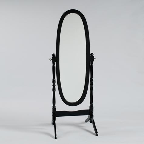 19202 - Cheval Mirror - Black