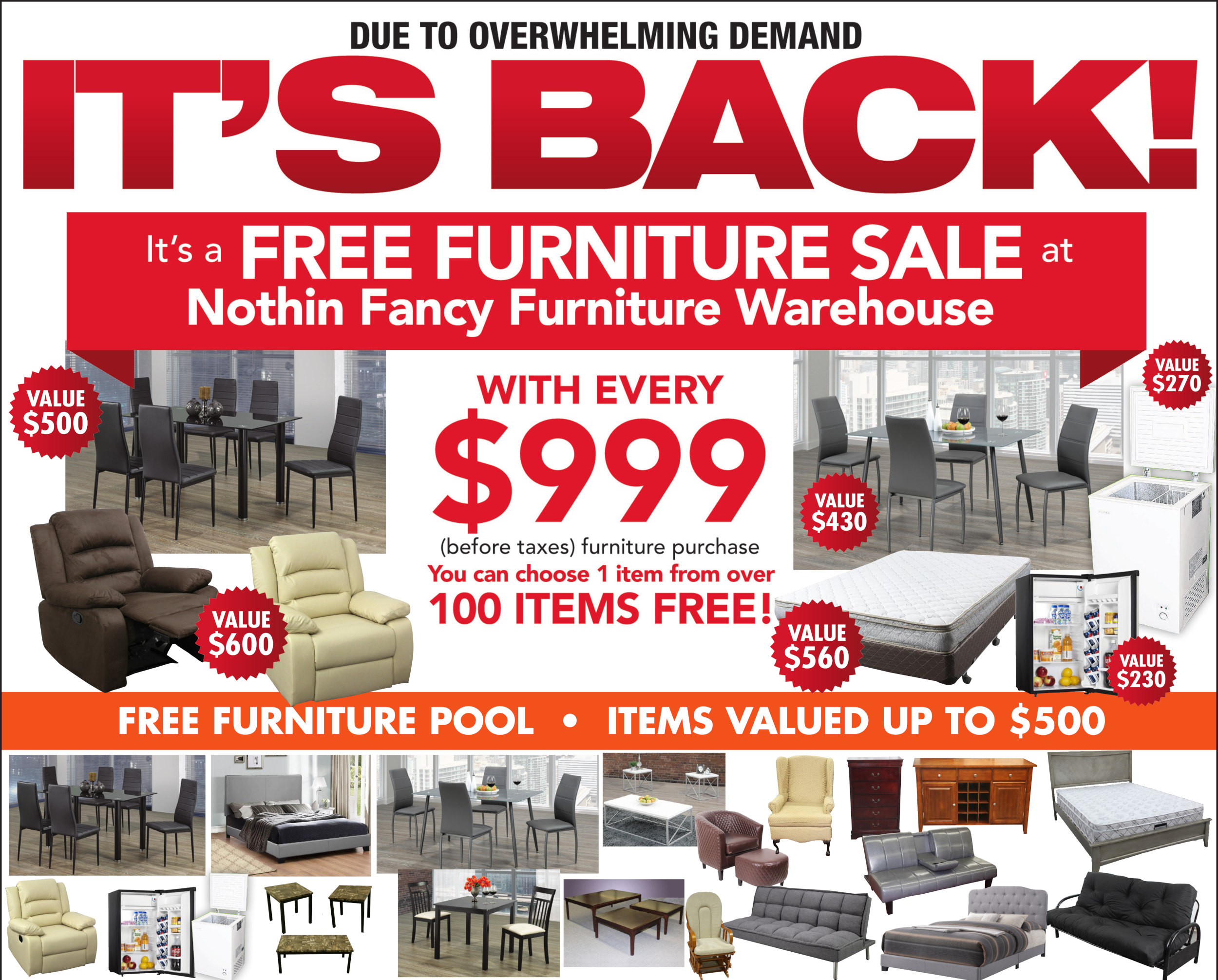 Nothin' Fancy's Free Furniture Sale