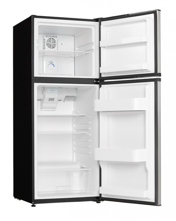 21685 - 10 cubic foot frost free fridge - stainless steel - open