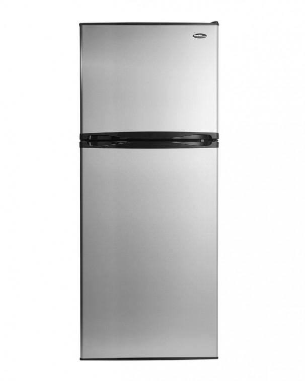 21685 - 10 cubic foot frost free fridge - stainless steel - front