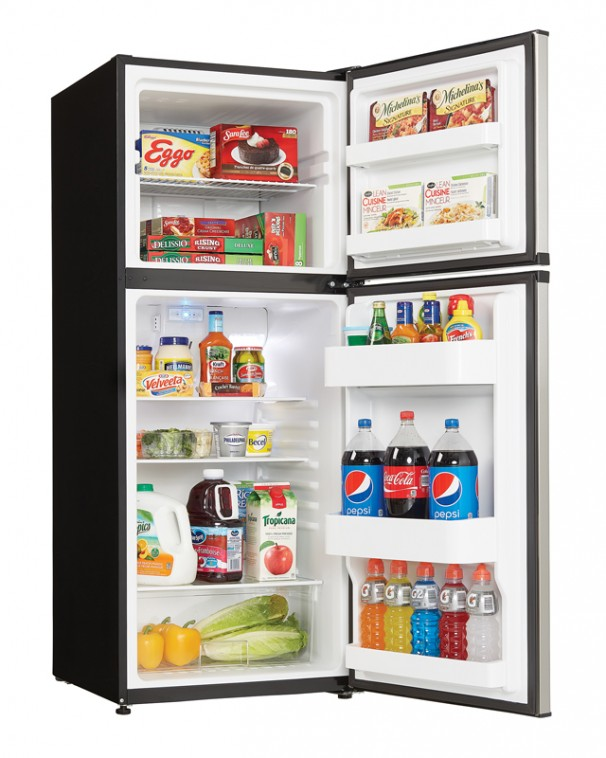 21685 - 10 cubic foot frost free fridge - stainless steel - prop