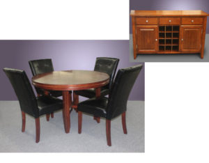 Table and 4 Chairs & Server