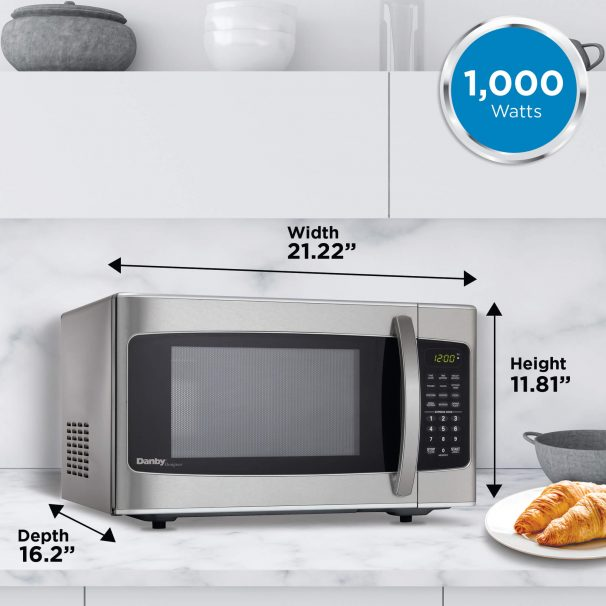 22165 - 1.1 Cubic Foot Microwave - Stainless Steel - Size