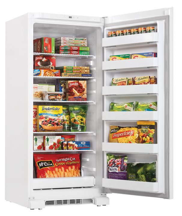 22496 - 17 Cubic Foot Upright Freezer - Full and Open