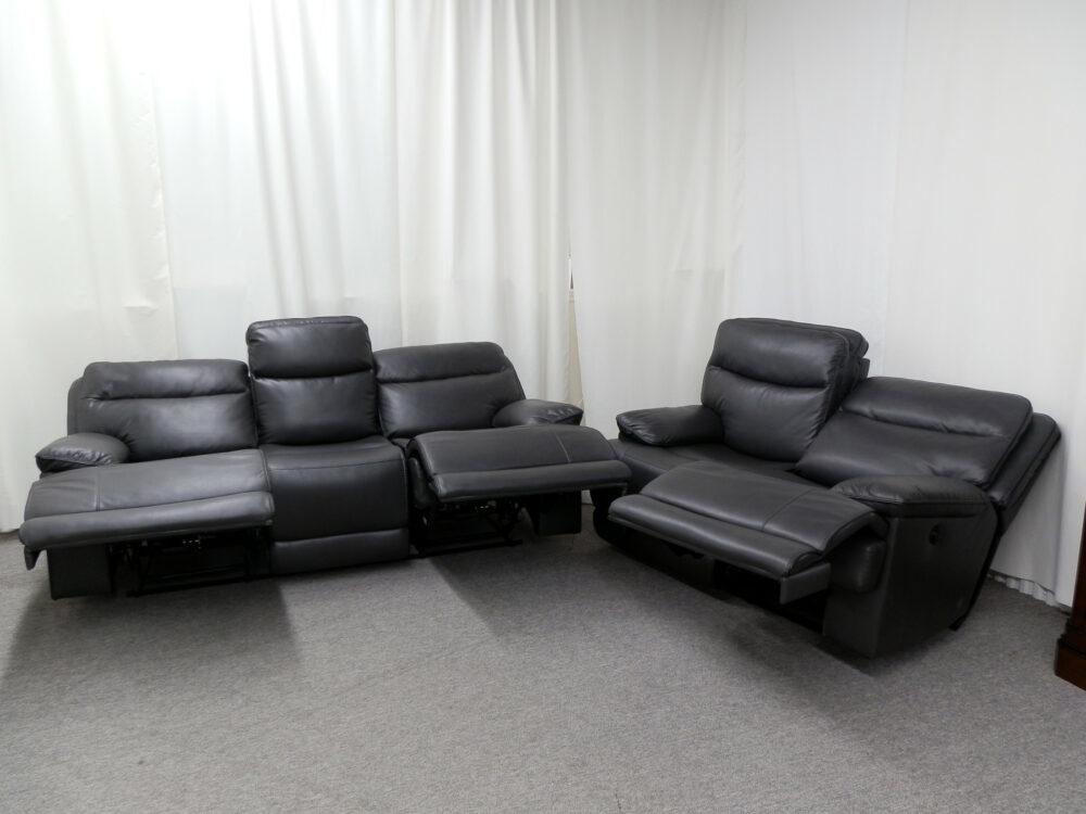 22657 22658 - Power Reclining Sofa & Loveseat - Open
