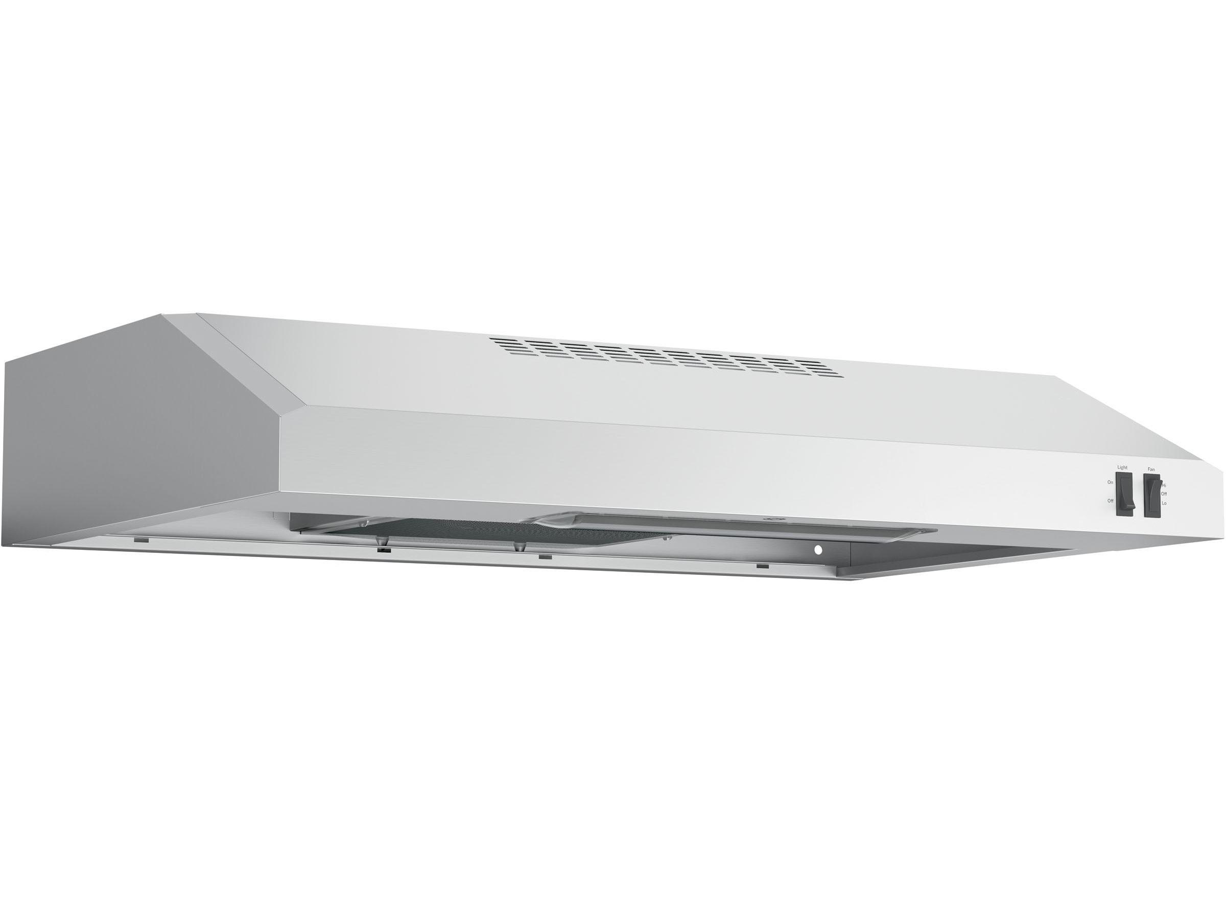 22706 – Range Hood – G-JVX3300SJSSC – Stainless Steel – Angle