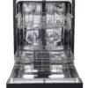 22708 - Black Dishwasher - GBF532SGMBB - Open