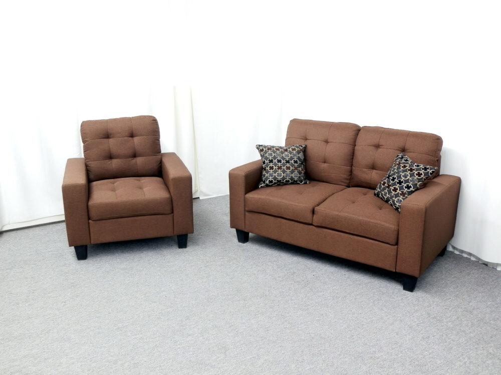 22813 - Love and Chair Set - 22813 - Sofa and Chair Set - GTU-4435