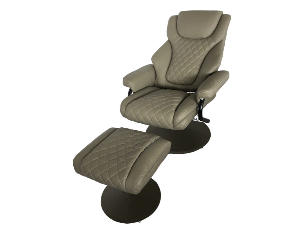 23047 Swivel Chair with Ottoman