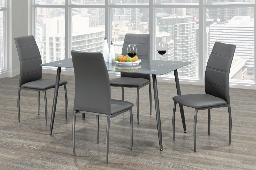 23129 – Glasstop Table & 4 Chairs