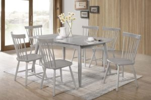 23134 - Table and Chairs - TF-3056 - Grey