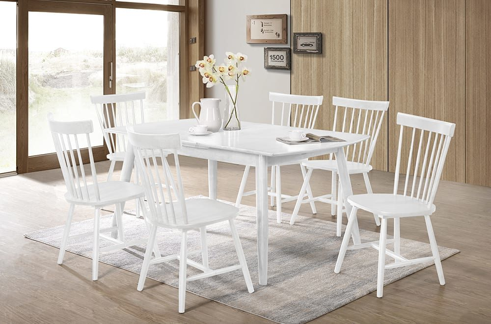 23136 - Table and Chairs - TF-3056 - White