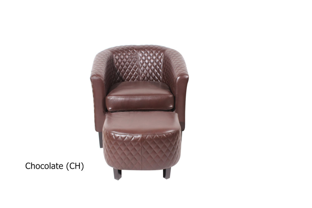 23207 - Chair and Stool - Chocolate Colour