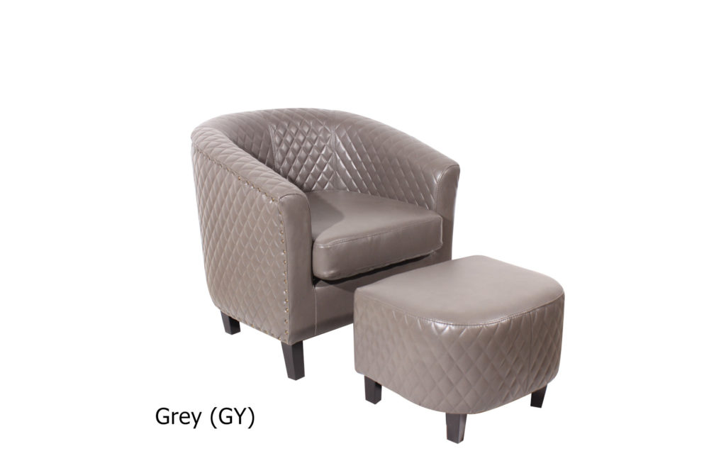 23208 - Chair and Stool - Grey Colour - 2