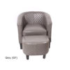 23208 - Chair and Stool - Grey Colour