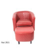 23250 - Chair & Stool - Red - 2