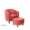 23250 - Chair & Stool - Red