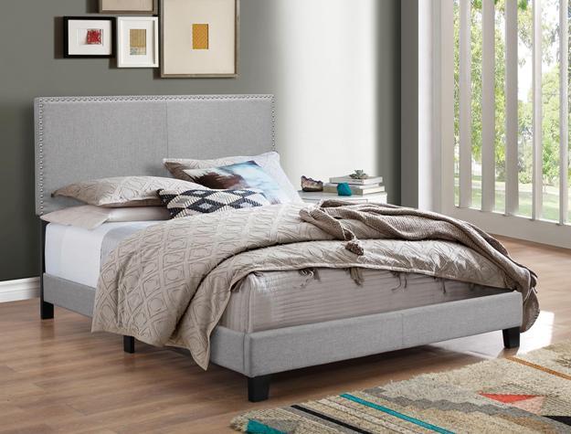 23376 - Grey Linen Bed