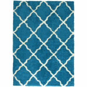 23439 - rug - deluxe-shag-trellis-turquoise
