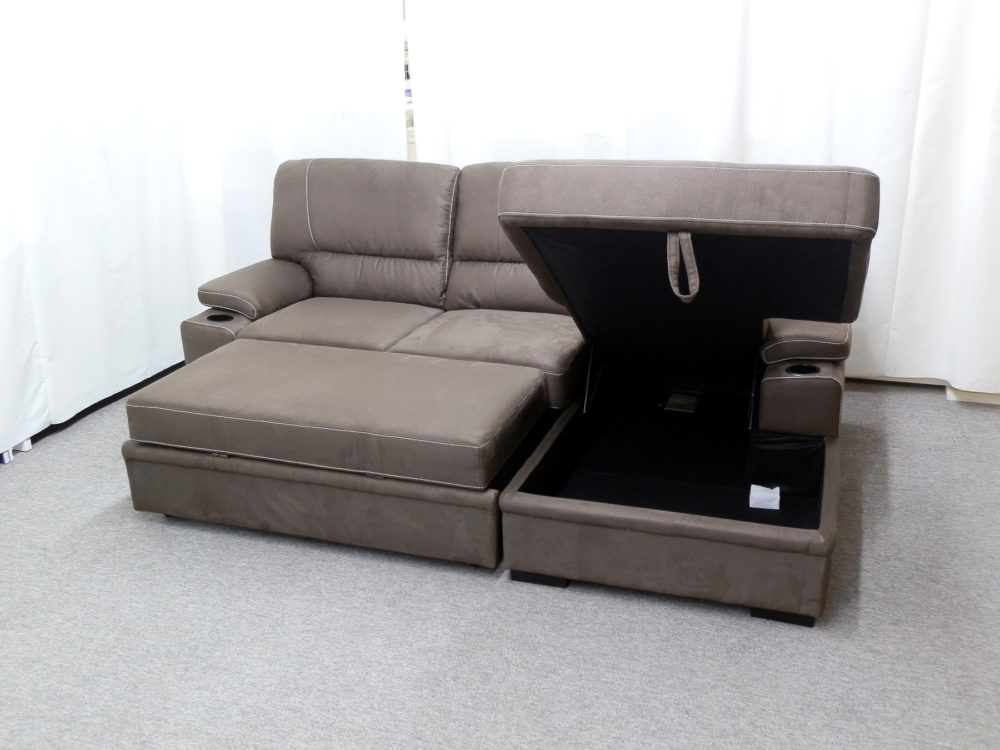 23483 - sectional - with - pop - up - bed - and - storage - PR-GUI-NC - assembled - open