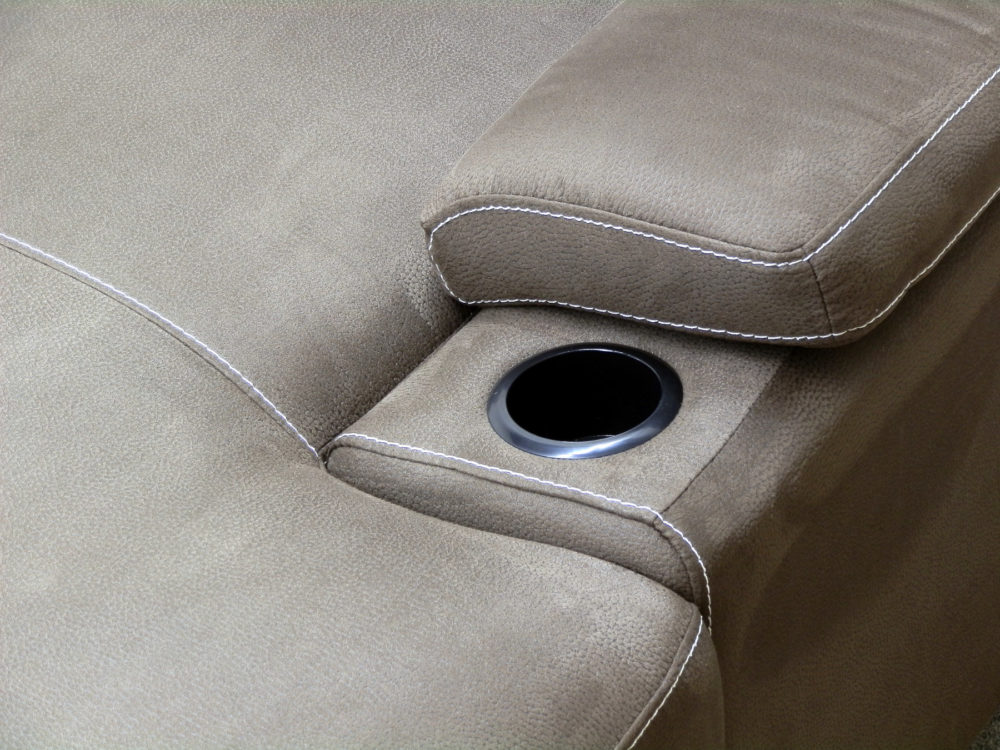 23483 - sectional - with - pop - up - bed - and - storage - PR-GUI-NC - cup - holder