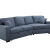 23562 - Sofa with Cuddler and Bed - Blue - PR-VIV
