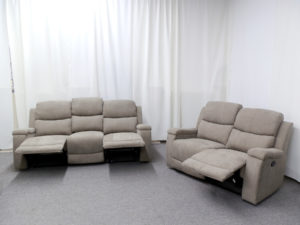 23571 - Reclining Sofa and Loveseat - PR-HEL - Open