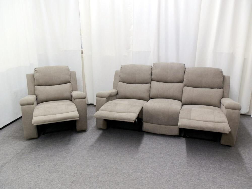 23571 - Reclining Sofa and Recliner - PR-HEL - Open