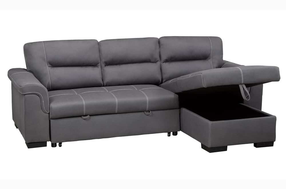 23695 - Chaisse Sectional with Popup Bed - TF-1217 - Open