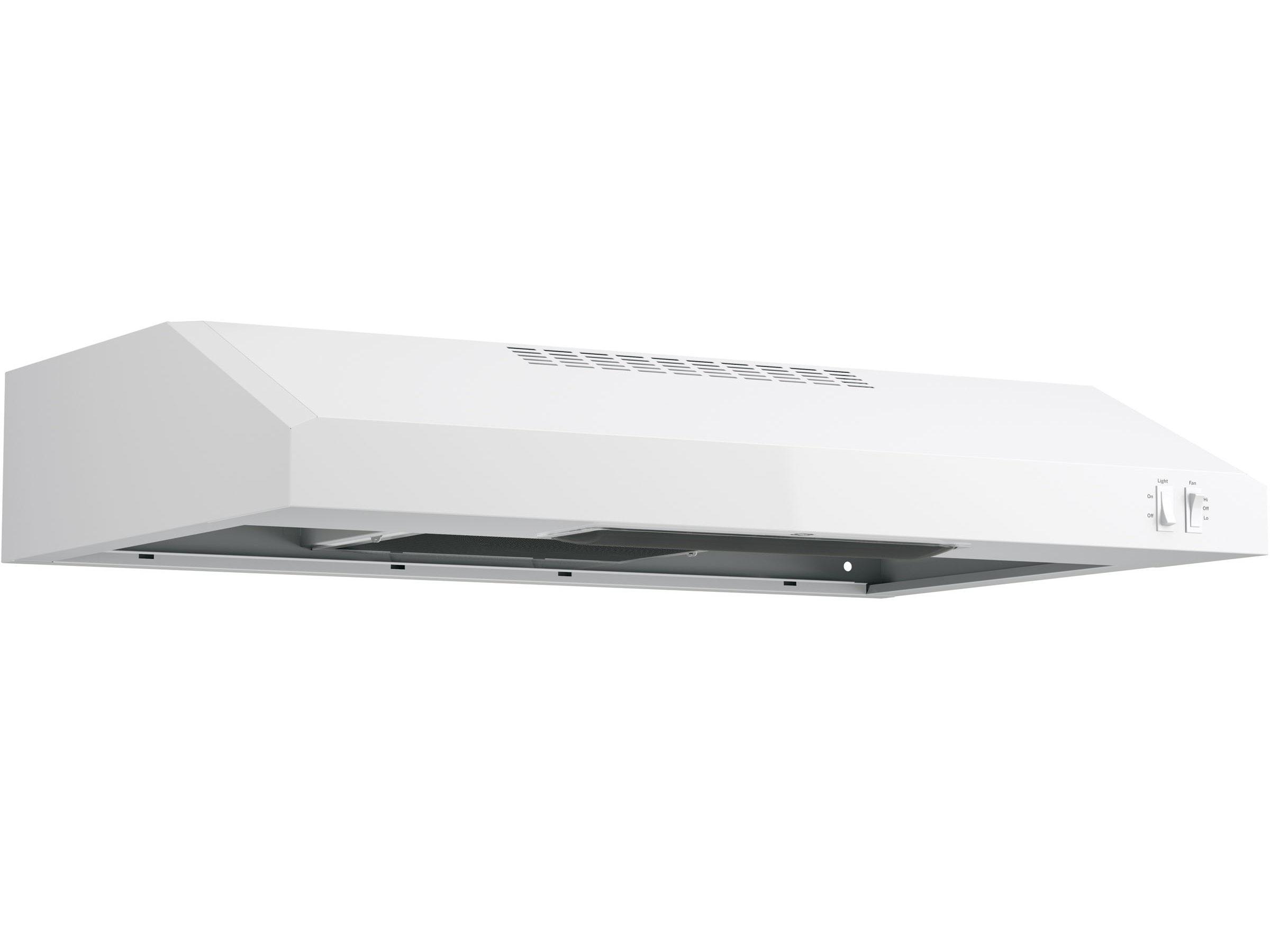 23697 – Range Hood – G-JVX3300DJWWC – White – Angle