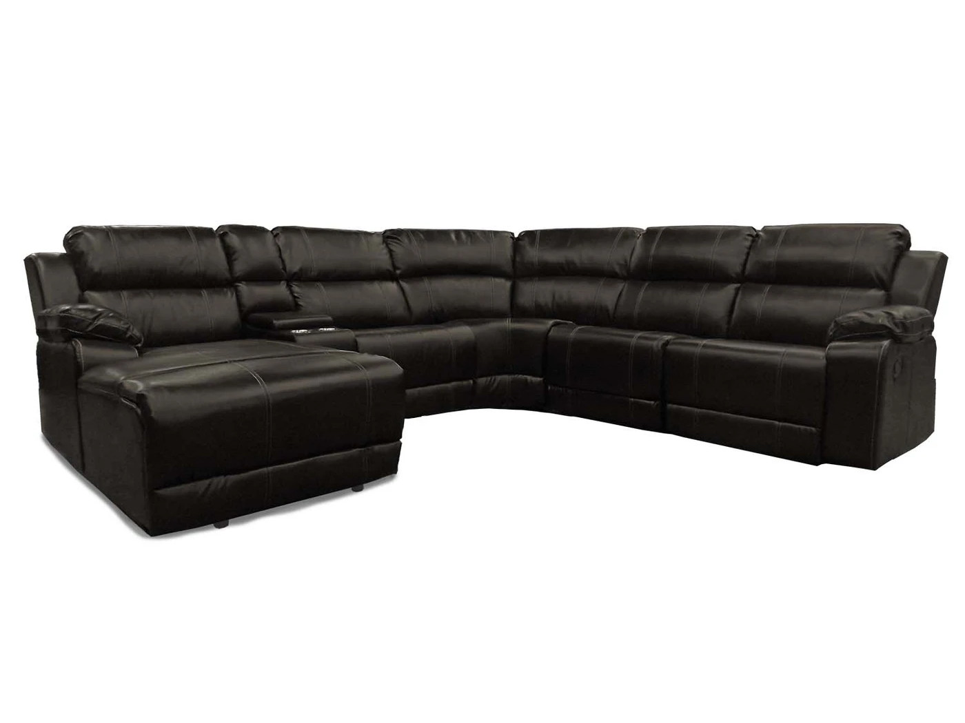 23790 – Reclining Sectional – LS-UF212 – Brown
