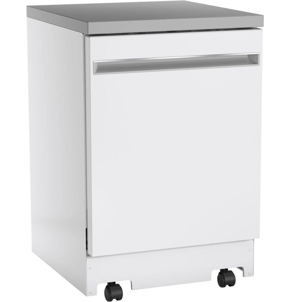 23809 - portable - dishwasher - GPT225SGLWW - angled