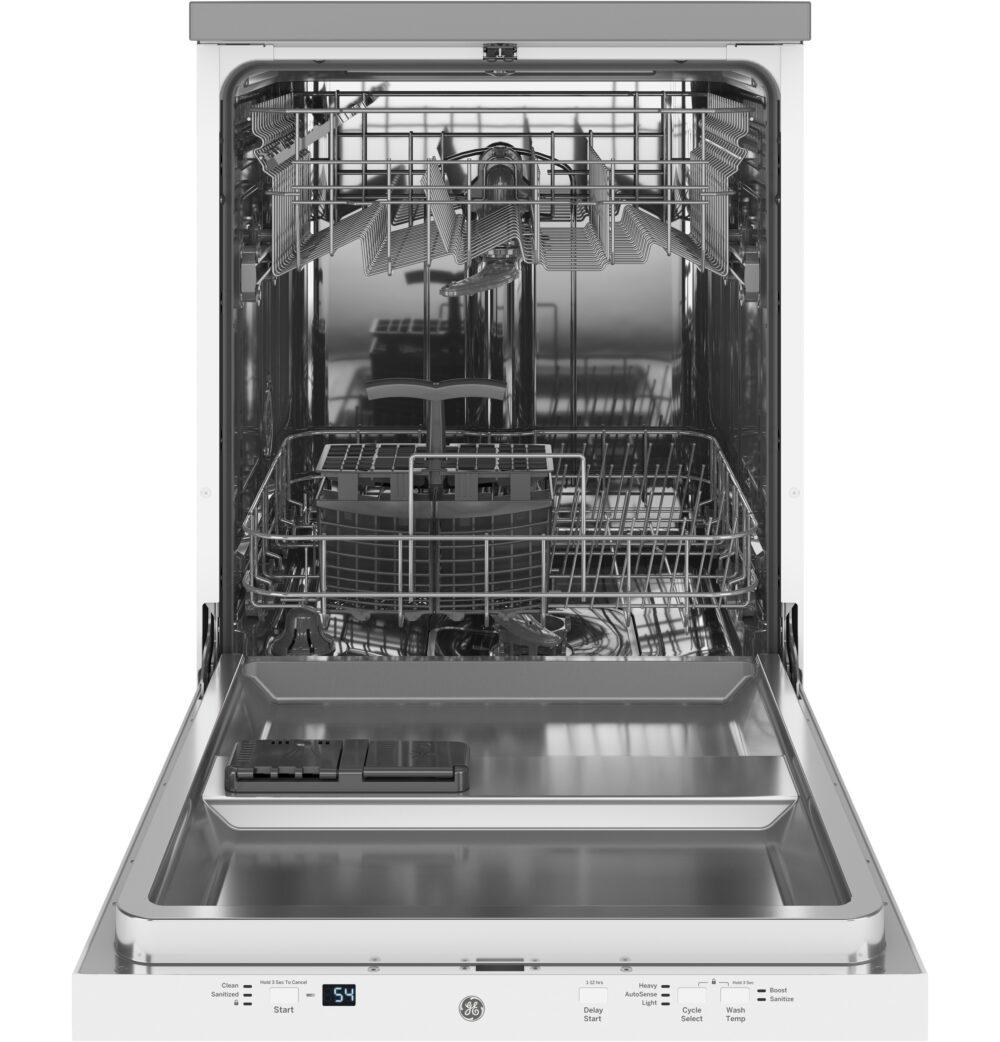 23809 - portable - dishwasher - GPT225SGLWW - open - empty
