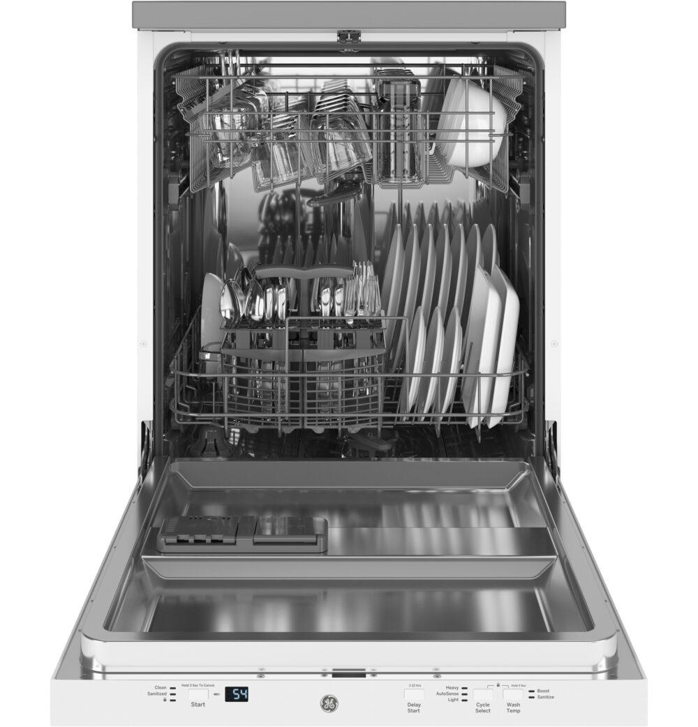23809 - portable - dishwasher - GPT225SGLWW - open - full