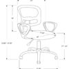 23817 - Office Chair - MN-7262 - Dimensions