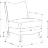 23823 - Accent Chair - MN-8046 - Dimensions
