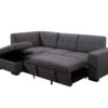 23856 - Chaisse Sofa with Popup Bed & Storage Ottoman - PR-Vincent - Open