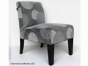 23993 - Accent Chair - CA-GDA134 - Charcoal Sunflower