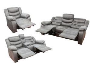 24002 - Power Reclining Sofa Set - UF-59929 - Grey