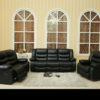 24010 - Sofa Set - MEGA-L8485 - Black