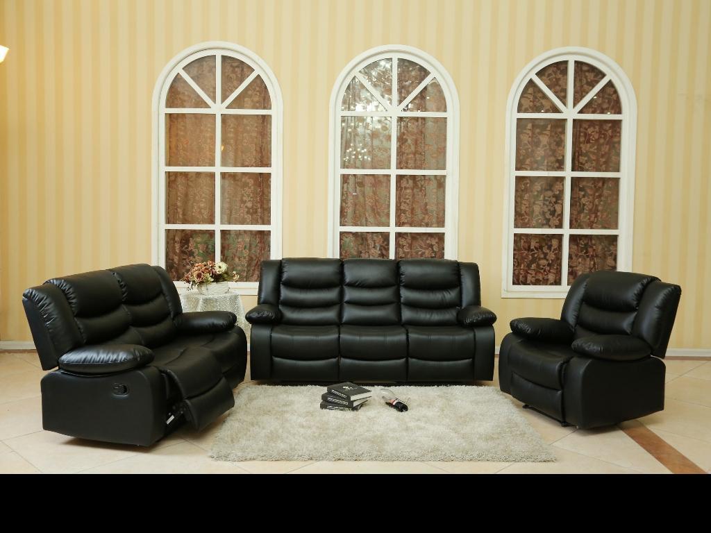 24010 – Sofa Set – MEGA-L8485 – Black
