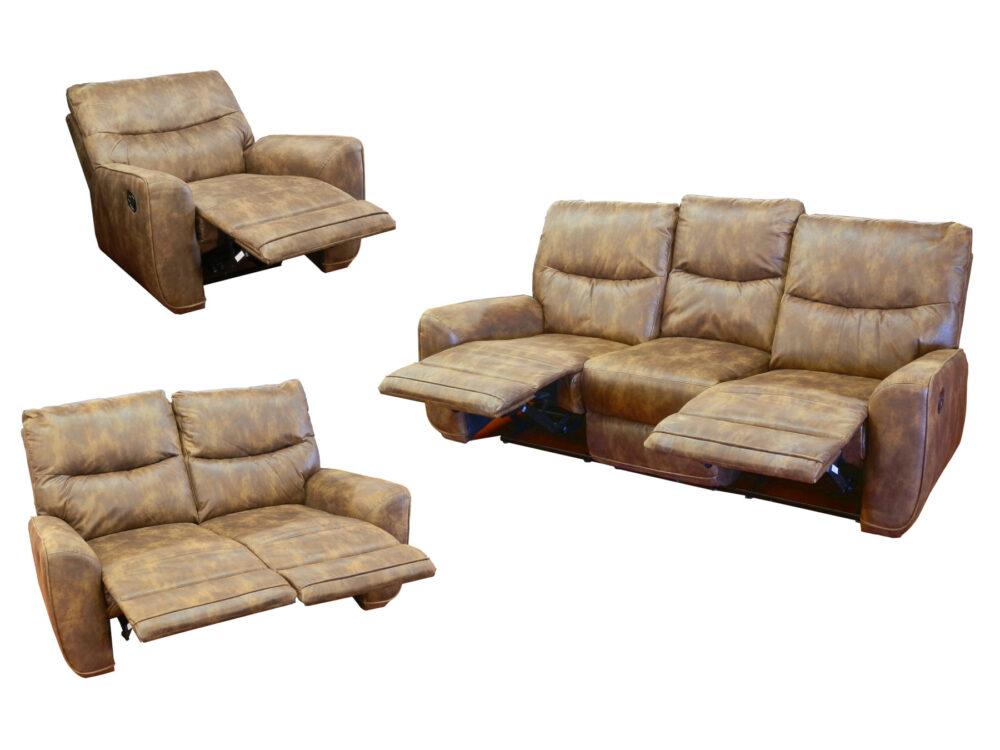 24116 - Reclining Sofa Set - AMA-DB - Extended