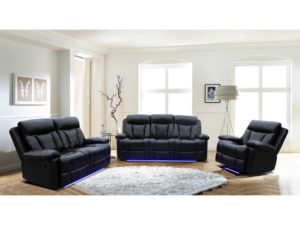 24145 - Sofa Set - MEGA-1765 - Black