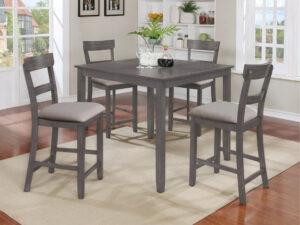 24154 - Grey Pub Table and 4 Stools - CMK-2754