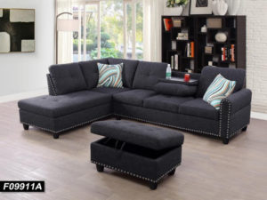 24335 - Sectional with Ottoman - LTS-Venice