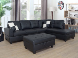 24372 - Chaisse Sectional with Ottoman - LTS-Belmount