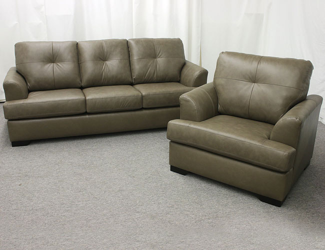 Leather Sofa, Loveseat, Chair