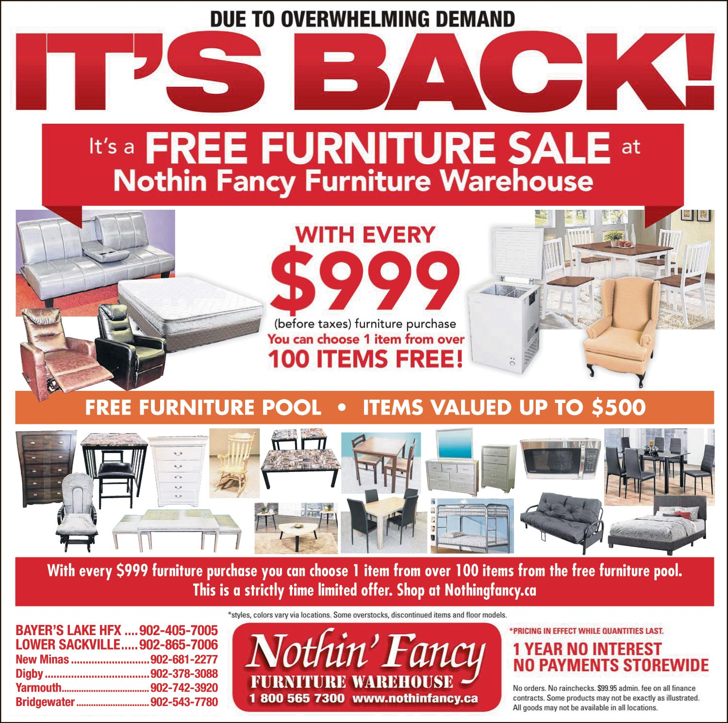Nothin Fancy Furniture Warehouse - It's Back!